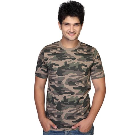 clifton army printed crew neck t shirt for india