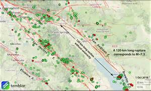 san andreas california map california earthquake advisory ends without further