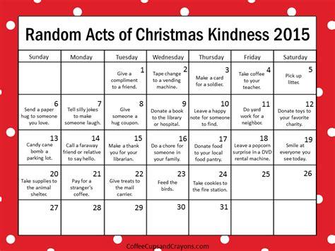 december random acts of kindness avent calendar
