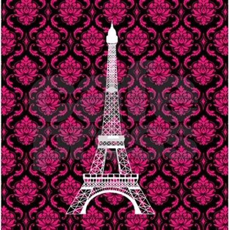 pink black and white eiffel pink and black background eiffel tower pillow case jpg color white height 460 width 460