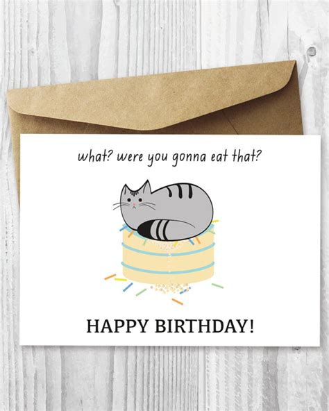 printable birthday cards cats printable cat birthday card happy birthday cat digital card