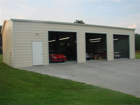 Metal 3 Car Garage by Metal Garage Buildings Pros Cons And Useful Buyer S Tips