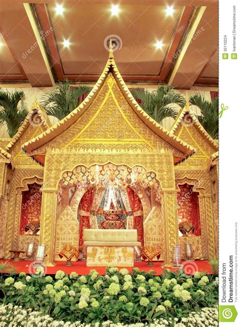 pictures decoration indonesian traditional wedding decoration stock photo