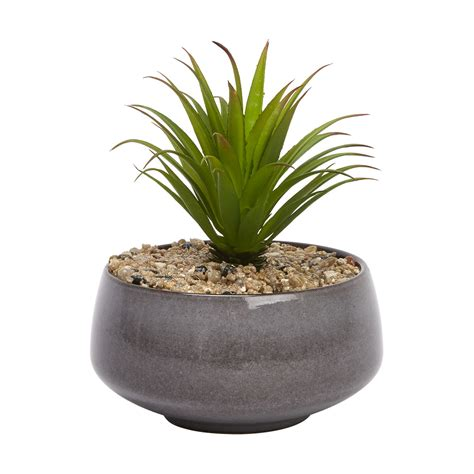small house plants small glaze faux plant kmart