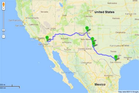 map from texas to california road trip san antonio to coachella california social vixen