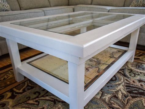 Door Coffee Table Diy An Upcycled Door Becomes A Glass Top Coffee Table Diy