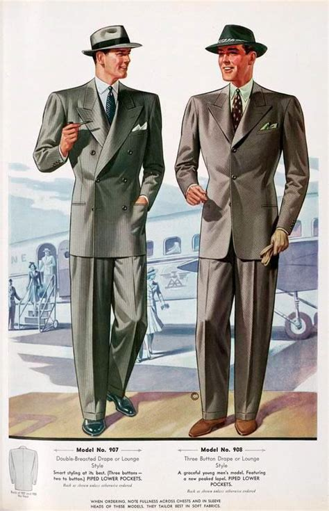 English Drape Suit Fashion History Pinterest
