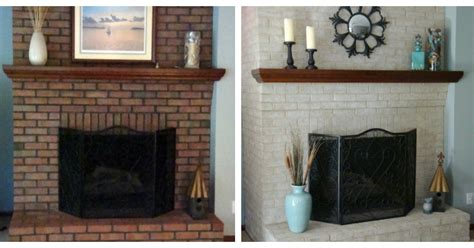 Transforming A Brick Fireplace by Fireplace Decorating Use Brick Fireplace Paint To