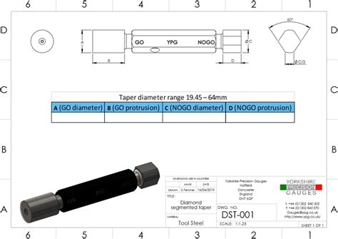 plug gauge order template drawings yorkshire precision