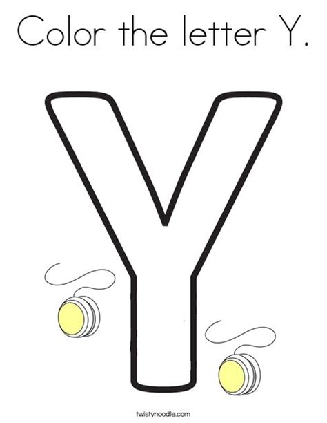Y Coloring Pages by Color The Letter Y Coloring Page Twisty Noodle