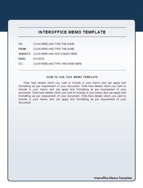 interoffice memo template free printable word templates