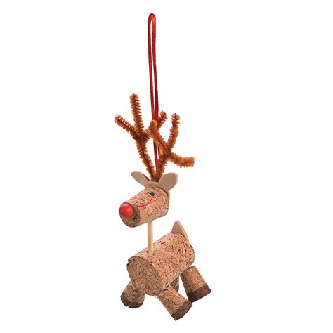 cork reindeer christmas ornament craft kit oriental trading