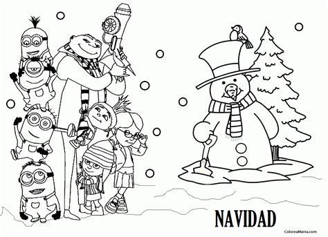 imagenes de navidad para colorear de los minions colorear minions en navidad minions dibujo para
