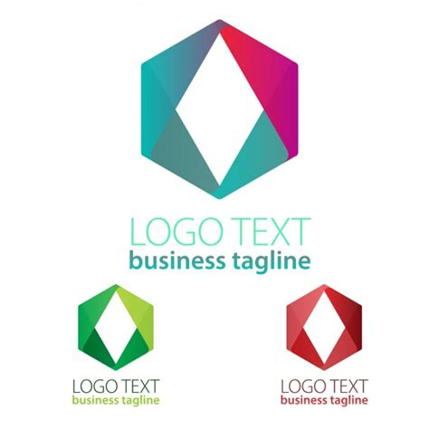 geometric shapes logo vector free