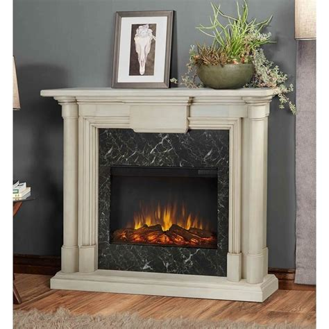 Indoor Electric Fireplace Real Maxwell Indoor Slim Electric Fireplace In Antique White 7030e Ww