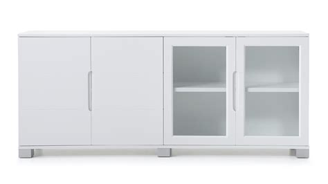 Cabinet Hays by Modern Cabinet White With Glass Doors Zuri Furniture