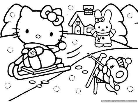 coloring pages of hello kitty christmas hello kitty christmas coloring pages snowman coloring