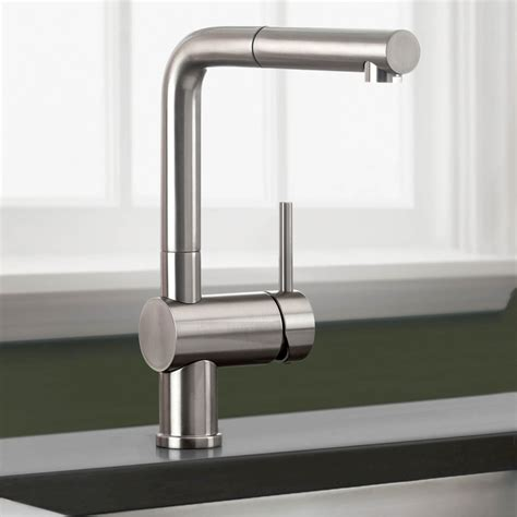 Delta Single Handle Kitchen Faucet With Spray by Blanco 441335 Linus Truffle Pullout Spray Kitchen Faucets