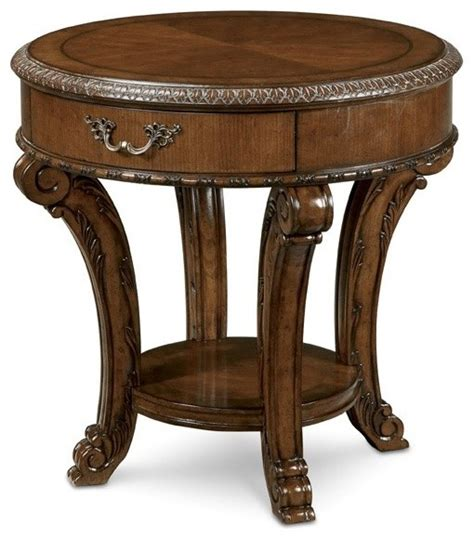 round bedroom table a r t furniture old world round end table traditional
