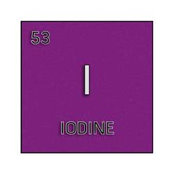 what color is iodine color element cell for iodine science notes and projects