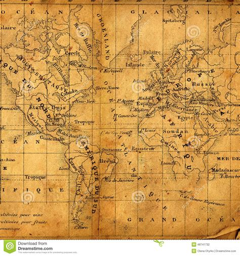 ancient american map ancient map stock photo image 48741732