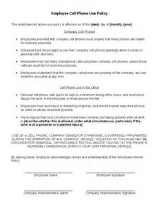 company cell phone policy template employee cell phone use policy hashdoc