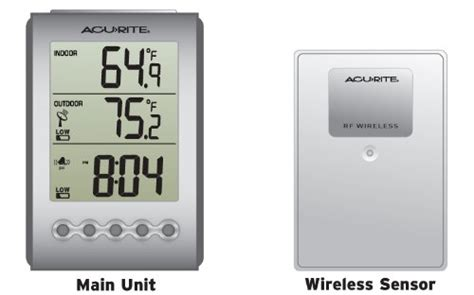 acurite backyard weather thermometer acurite digital wireless weather thermometer indoor outdoor 00604 28 00