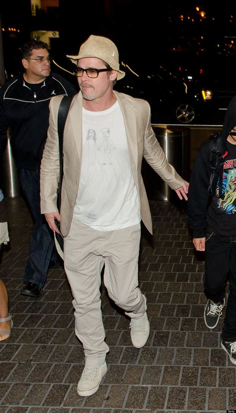 Brad Pitt Wardrobe by Brad Pitt Steps Out With In Adorable