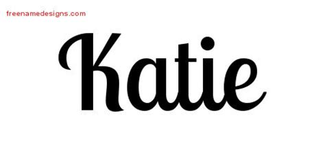 name katie tattoo designs handwritten name designs free free