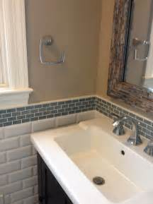 Backsplash Bathroom Ideas Glass Tile Backsplash Bathroom Home Design Ideas