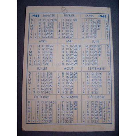 Calendrier De 1965 Taquin 1965 Pas Plus Tard Qu Hier