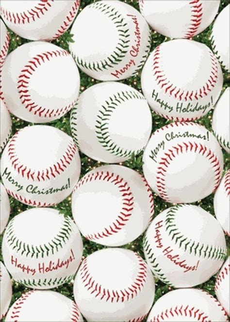 red  green baseballs christmas cards babys  christmas    great background
