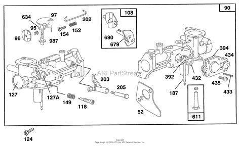 briggs carb diagram carburetor for briggs and stratton model 135202 diagram