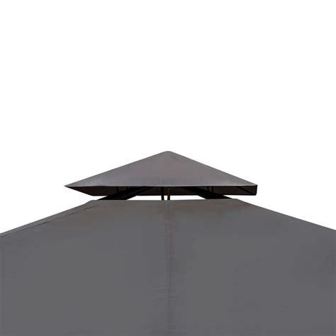 gartenpavillon 3 x 3 m vidaxl gartenpavillon aus poly rattan mit dunkelgrauem