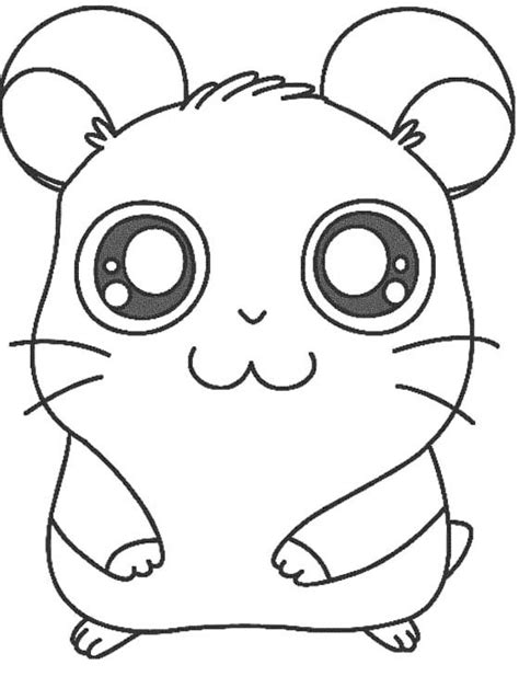 free coloring pages of a hamster