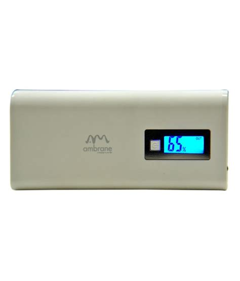 Ambrane Power Bank 8000 mAh White   Buy Ambrane Power Bank