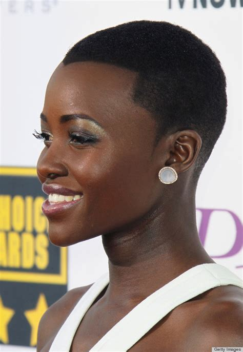 how do black men cut their widow peak lupita nyong o hairstyle and haircut 2017 pictures