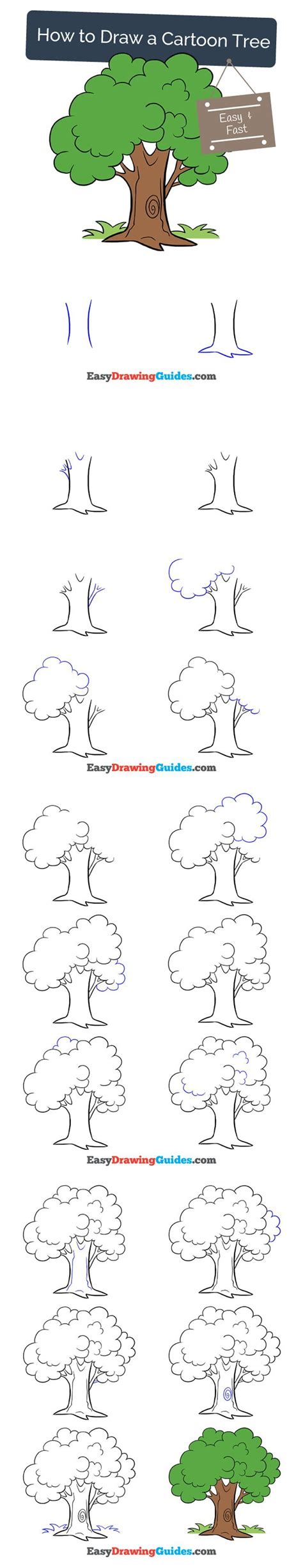 typography tutorial step by step draw pattern learn how to draw a cartoon tree easy step