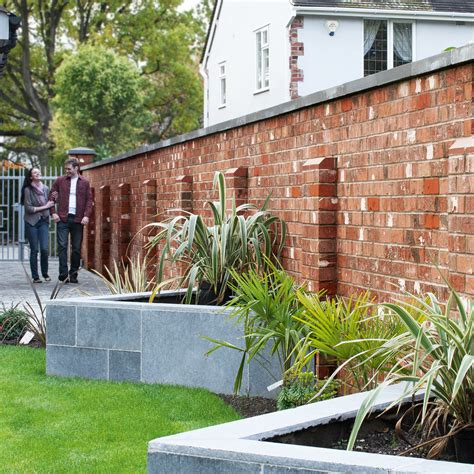 garden walling ideas brick garden walls low brick garden wall ideas pictures