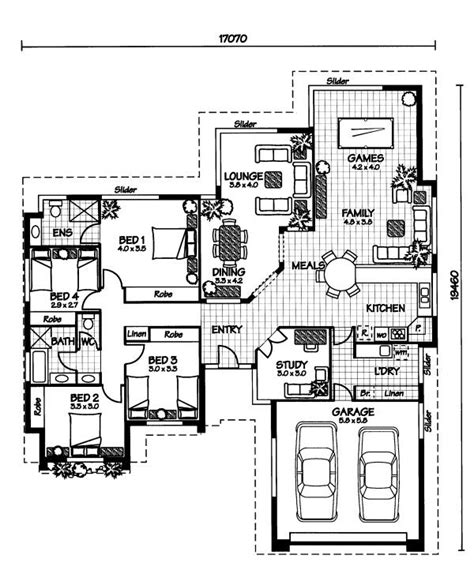 australian home plans floor plans the flinders 171 australian house plans