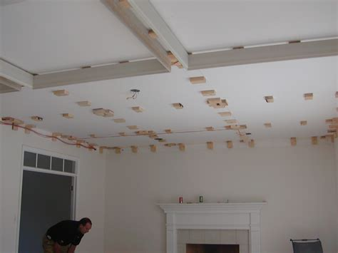 Installing A Ceiling by Toronto Patterned Coffered Ceiling Installation Codyausmus