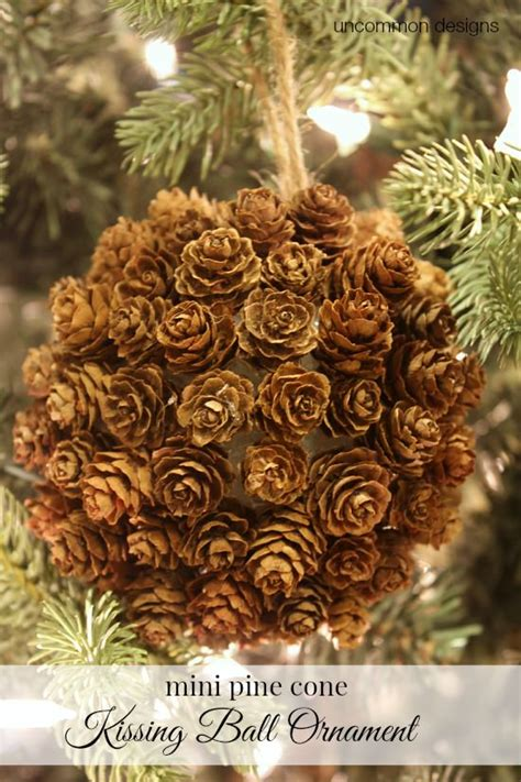 pine cone christmas ideas mini pine cone ornament and a giveaway uncommon designs