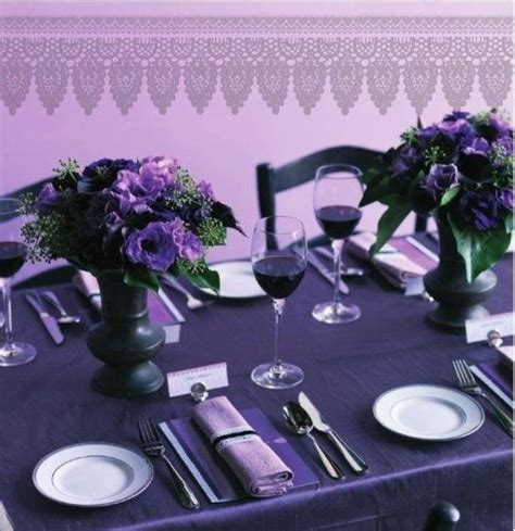 the color purple setting 88 best images about church rainbow tea table ideas on