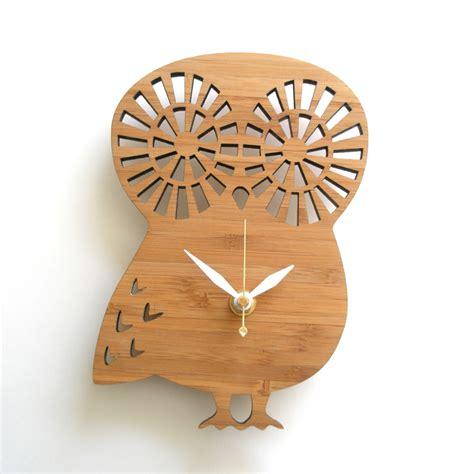 owl wall clock modern owl wall clock by decoylab rosenberryrooms