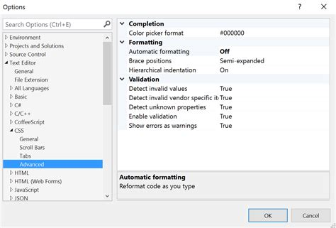 format html visual studio how to make visual studio not put on a new line