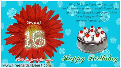 Happy Birthday Wishes Sweet 16 Sweet 16 Birthday Quotes Happy Quotesgram