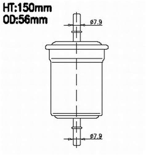 Filter Fuel Hyundai Trajet All 90000 fs9207 fuel filter hyundai trajet 00 04 alg3077 z590 ryco c3077 31911 3a000 3129113a000 wz590