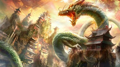 download film boboho china dragon digital art fantasy art dragon nature chinese