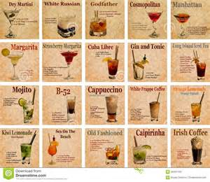 Vintage Kitchen Island Ideas set of cocktail recipes stock photo image of caipirinha