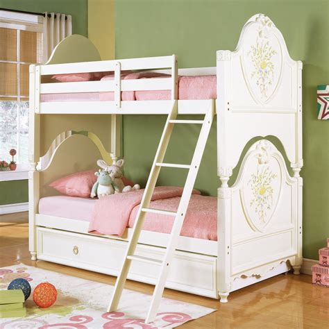 Doll House Style Girls Youth Lovely Twin Twin Or Twin Full Doll House Bunk Beds